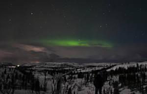 Watching Aurora Borealis by Poligla