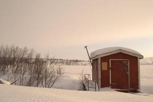 Silence of arctic sunrise by Poligla