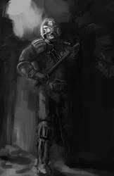 Judge Dredd Fan Art (Value Comp) by totopc