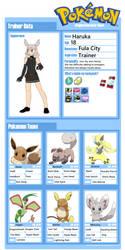 Pokemon - Haruka Ref Sheet by Lumine001