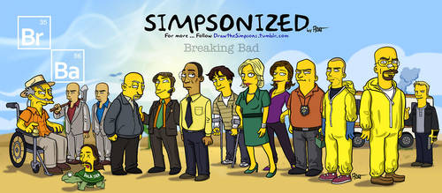 Breaking Bad Simpsonized by ADN-z
