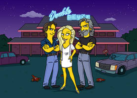RoadHouse Simpsonized by ADN-z