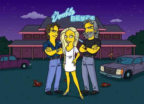 RoadHouse Simpsonized by ADN-z