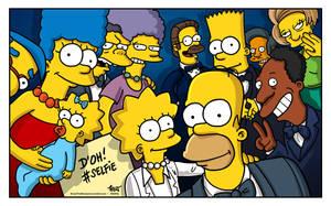 Ellen's Oscars selfie with The Simpsons by ADN-z