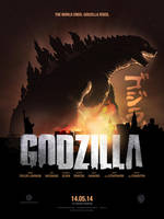 Godzilla 2014 / Poster by ADN-z