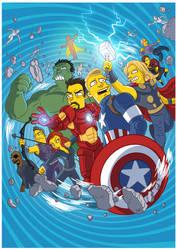 Avengers Age of Ultron Simpsonized by ADN-z
