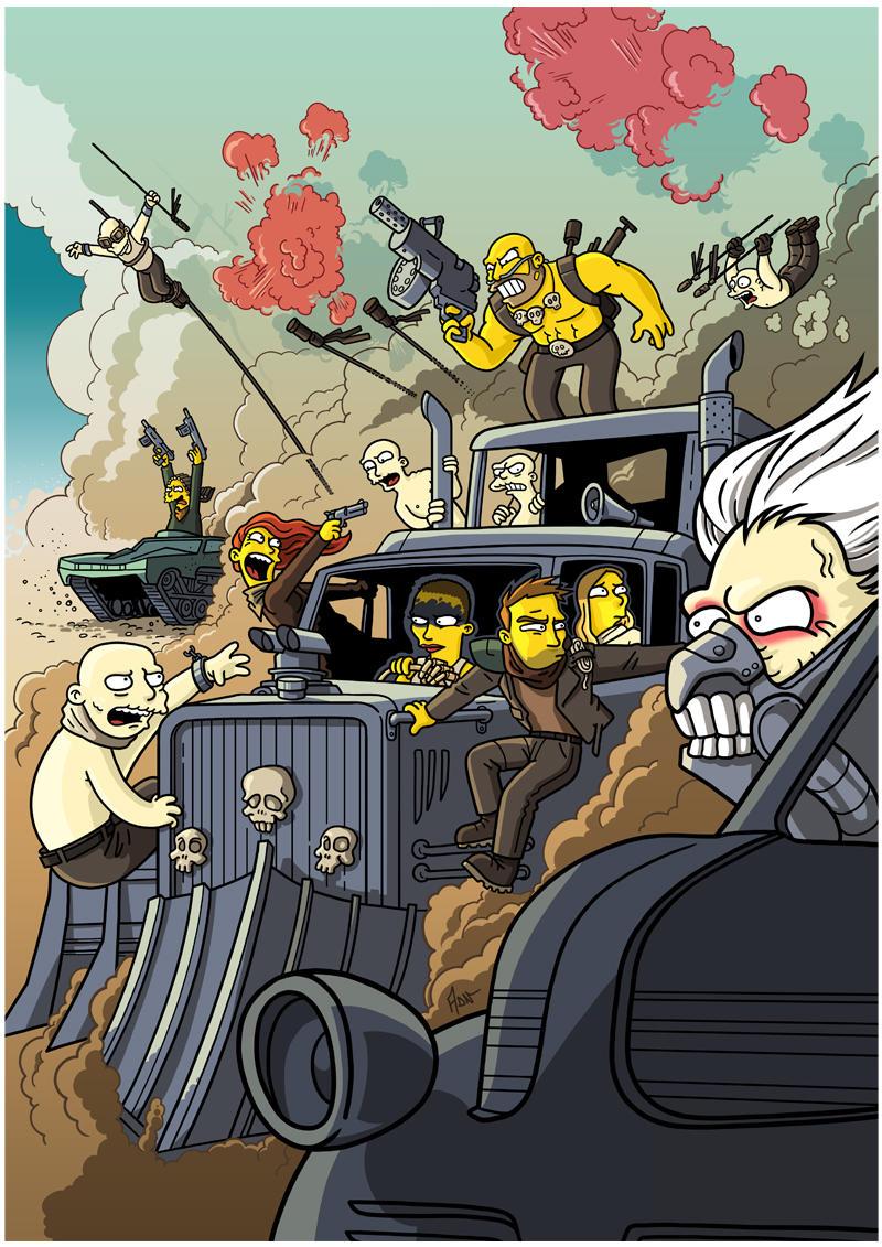 Mad Max Fury Road Simpsonized by ADN-z