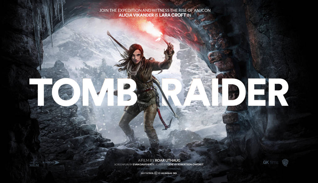 Tomb Raider teaser movie poster w Alicia Vikander by ADN-z
