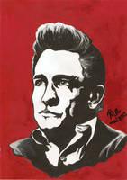 Johnny Cash by RalucaFratea