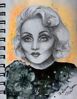 Carole Lombard quick sketck by RalucaFratea