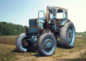 3D-Model of Rusty Tractor by Sergey-Ryzhkov