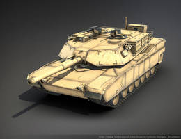 M1A1 Abrams (Low Poly) by Sergey-Ryzhkov