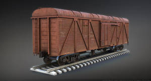 Old train Boxcar by Sergey-Ryzhkov