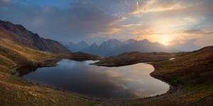 Sunrise at Koruldi Lakes by Sergey-Ryzhkov