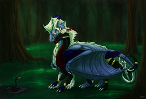 An odd creature in the forest -trade- by Aarok