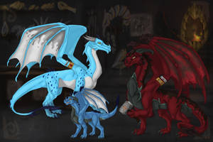 PL - The blacksmith and his family by Aarok