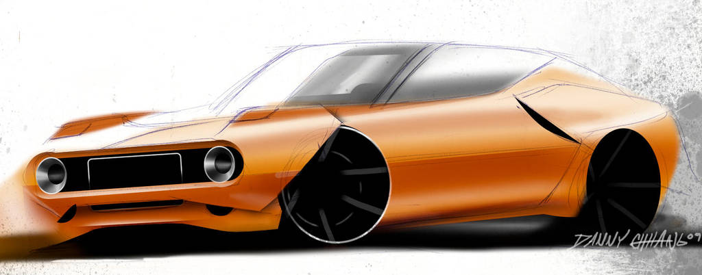 Muscle Car Sketch By Dannychhang On Deviantart