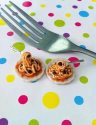 Miniature Spaghetti and Meatballs by KrystalsTinyCakery