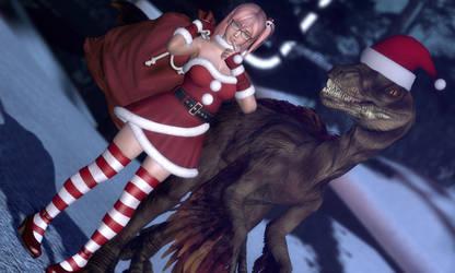 Honoka Vs Christmas by Rastifan