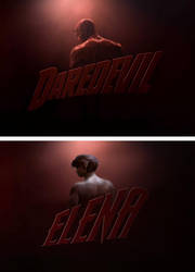 Elena Vs Daredevil by Rastifan