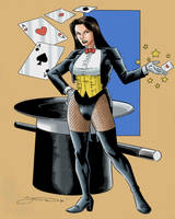 Old Zatanna Drawing In Colors by wardogs101