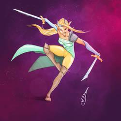 Elven blade master by artfulscribe