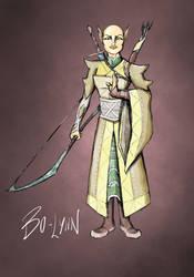 Elven monk by artfulscribe