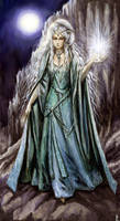 The goddess of the moonlight by edarlein
