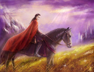 Feanor in Exile by edarlein