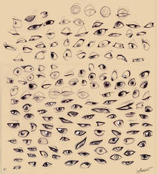 Sketches - Cartoon eyes by Aeonrin
