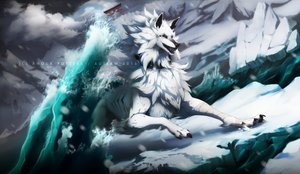 Among ice and snow and the ocean below by Autlaw