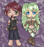 Rin and Lehn Chibi by Jenichan