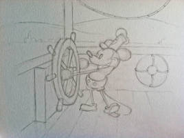 My Steamboat Willie Sketch by lordofthepirates