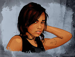 Zoe Kravitz by Joey-Zero