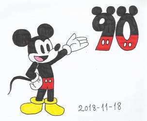 Happy 90th Anniversary, Mickey Mouse! by KatarinaTheCat