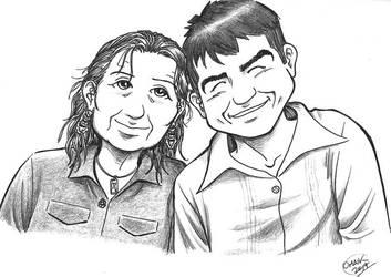 Cartoony Portrait Commission by Omaik