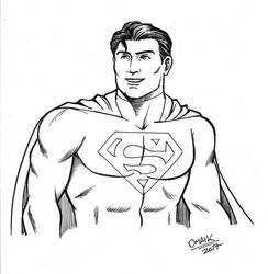 Superman sketch by Omaik