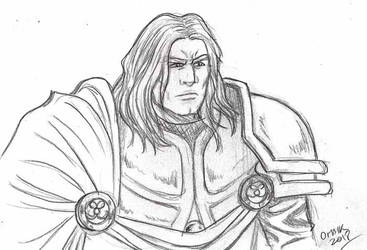 Arthas sketch by Omaik