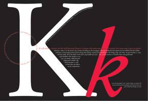 Adobe Garamond.... font poster by Kaitibug