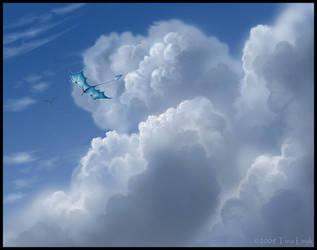 Cloud Surfing by jaxxblackfox
