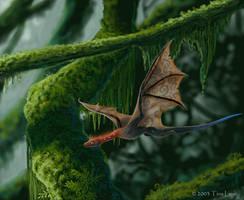 Little Wyvern amongst the moss by jaxxblackfox