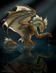 I like my fish- Dragon by jaxxblackfox