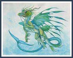 The Green Swimmer by jaxxblackfox