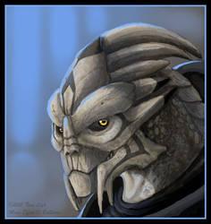 Aarius- Turian- Mass Effect Fanart by jaxxblackfox