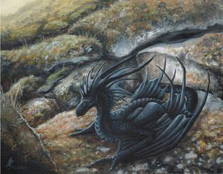 Little black Wyvern by jaxxblackfox