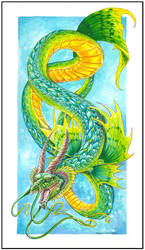 The Jade Water Dragon by jaxxblackfox