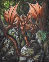 Bronze Dragon by jaxxblackfox