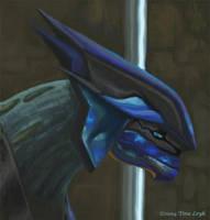 Blue Elite Bust by jaxxblackfox