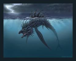 Aquatic Hunter by jaxxblackfox