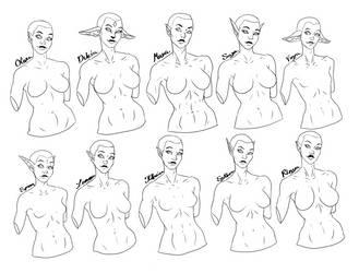 Female OCs by SythraNightshade